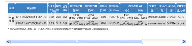 首页 邦的产品  格力空调  家用空调  变频空调